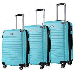 Expandable Luggage Set, Suitcases TSA Lightweight Spinner Luggage Sets, Carry On Luggage 3 Piece Set