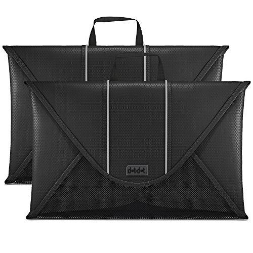 Dot&Dot Packing Folder for Travel – 15 inch Garment Sleeves 2 piece Set Black