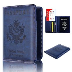 Storage Package, Yezijin Leather Passport Holder Wallet Cover Case RFID Blocking Travel Wallet ( ...