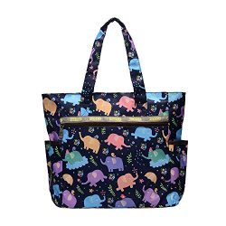 Nylon Large Lightweight Tote Bag Shoulder Bag for Gym Hiking Picnic Travel Beach Waterproof Tote ...
