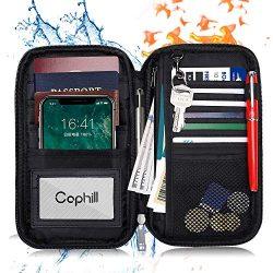 Fireproof Family Travel Passport Holder Wallet Travel Accessories RFID Blocking Document Organiz ...