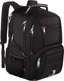 Travel Laptop Backpack,Extra Large Capacity TSA Friendly Anti Theft Backpacks with USB Charging  ...