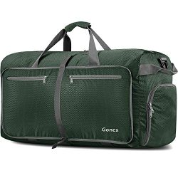 Gonex 150L Extra Large Duffle Bag, Packable Travel Luggage Shopping XL Duffel Deep Green