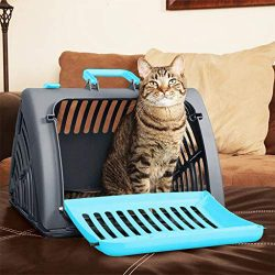 Kariwell Pet Carried, Foldable Travel Cat Carrier, Breathable Dog Cat Pet Carrier Travel Carrier ...