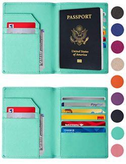 RFID Blocking Passport Holder – Genuine Leather RFID Passport Holder – Slim Passport ...