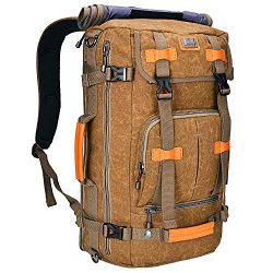 Canvas Backpack WITZMAN Vintage Travel Backpack Hiking Luggage Rucksack Laptop Bags A519 (21 inc ...