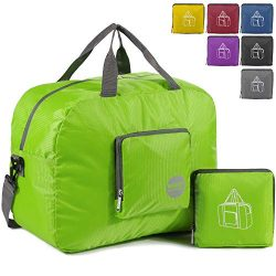 WANDF 16″ ~ 32″ Foldable Duffle Bag for Travel Gym Sports Lightweight Luggage Duffel ...