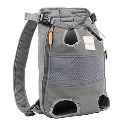 Allgreen Portable Dog Front Carrier Backpack Canvas Pet Carrier Backpack Adjustable Travel Bag,  ...