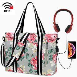 Laptop Tote Bag for Women Large Computer Handbags Laptop Shoulder Messenger Bag Case Sleeve with ...