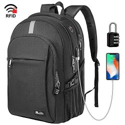 Business Laptop Backpack, Extra Large TSA Friendly Durable Anti-Theft Travel Backpack with USB C ...