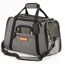 Pawfect Pets Airline Approved Pet Carrier Soft-Sided Cat Carrier and Dog Carrier for Cats and Ex ...