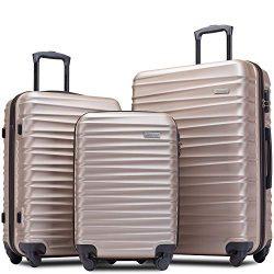 Merax Afuture Luggage Set Hardside Lightweight Spinner Suitcase 20″ 24″ 28″ (C ...