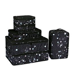 JJ POWER Travel Packing Cubes, Luggage Organizers with Shoe Bag (Starry)