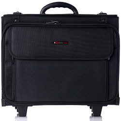 "Alpine Swiss Rolling Briefcase Hard Side Catalog Case 17"" Laptop Sleeve"