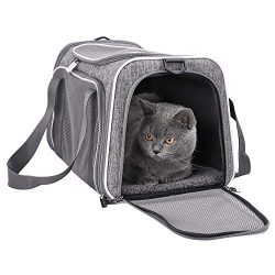 petisfam Top Load Cat Carrier for Medium Cats, Collapsible and Escape Proof