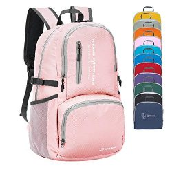 ZOMAKE Lightweight Travel Backpack, Packable Water Resistant Hiking Daypack Foldable Backpack fo ...