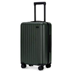 GoPenguin Luggage, Carry On Luggage with Spinner Wheels, Hardshell Suitcase for Travel with Buil ...