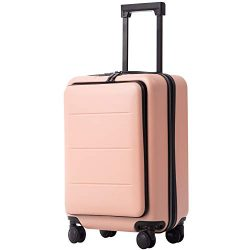 COOLIFE Luggage Suitcase Piece Set Carry On ABS+PC Spinner Trolley with Laptop pocket (Sakura pi ...