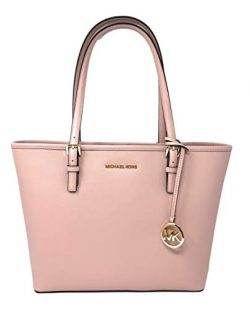 Michael Kors Jet Set Travel Medium Carryall Saffiano Tote – Blossom
