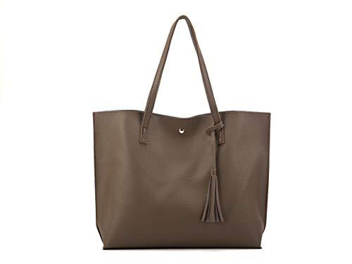 Nodykka Purses and Handbags Women Tote Bags Top Handle Satchel Handbags PU Pebbled Leather Tasse ...