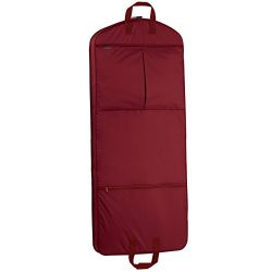 WallyBags 52″ Dress Length Garment Bag with Pockets, Red