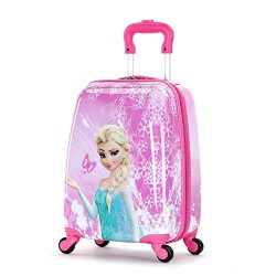WCK Travel Kid's Luggage 18inch Carry on Hard Side Upright Cartoon Spinner Luggage Rolling ...