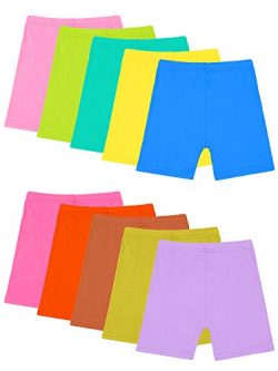 Resinta 10 Pack Dance Shorts Girls Bike Short Breathable and Safety (Color 5, 4-5T)