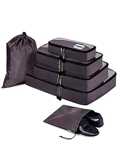 Packing Cubes for Travel Compression Accessories – Luggage Carry on Suitcases – Larg ...