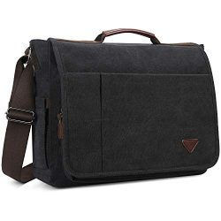 Laptop Bag,Messenger Bag,Canvas Shoulder Computer Bag,17 inch Laptop Briefcase Computer Bag Busi ...