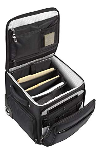 Ativa Ultimate Workmate Rolling Briefcase with 15″ Laptop Pocket, Black