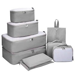 G4Free 9 Set Packing Cubes – Water Resistant Mesh Travel Luggage Accessories Packing Organ ...