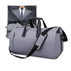 V-Vitoria Suit Duffel Bag with Shoulder Strap for Travel Business Carry on Foldable Garment Bag  ...