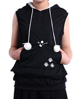 Sleeveless Hoodie Pet Holder Cat Dog Kangaroo Pouch Carriers Pullover