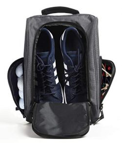 Athletico Golf Shoe Bag – Zippered Shoe Carrier Bags with Ventilation & Outside Pocket ...