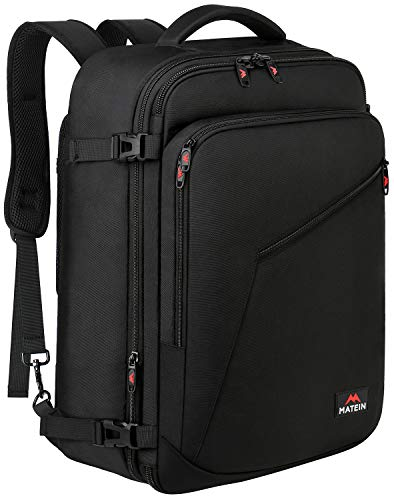 Matein Carry on Backpack, Extra Large Travel Backpack Expandable Flight Approved Weekender Bag f ...