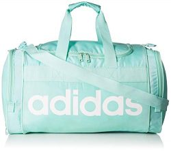 adidas Santiago Duffel Bag, Clear Mint/White, One Size