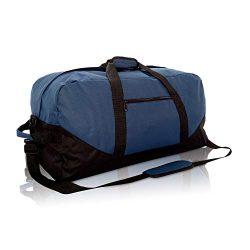 DALIX 25″ Big Adventure Large Gym Sports Duffle Bag in Navy Blue