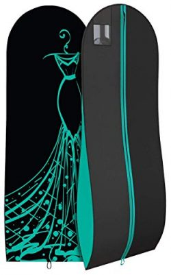 Long Prom Dress Bag – Pretty Travel Gown Garment Bag – 72″x24″ – 1 ...