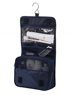 Travel Packing Cubes 7 Set, JJ POWER Luggage Organizers with toiletry kit shoe bag (Navy Blue)