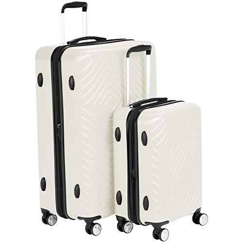 AmazonBasics Geometric Luggage Expandable Suitcase Spinner – 2 Piece Set (20″, 28 ...