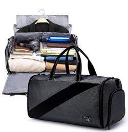 Garment Bag – Convertible Garment Duffel Bag, 2 in 1 Dry and wet separation Suit Garment B ...
