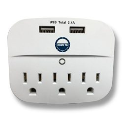 Cruise Power Strip with USB Outlets – Non Surge Protection & Ship Approved | Travel Ac ...