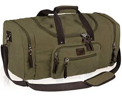 Dream Hunter Oversized Canvas Travel Tote Duffel Bag for Men Shoulder Weekender Overnight Carry  ...