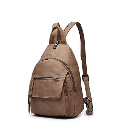 Women Backpack Purse, Small Shoulder Bag Lightweight School Travel PU Leather Purse with Convert ...