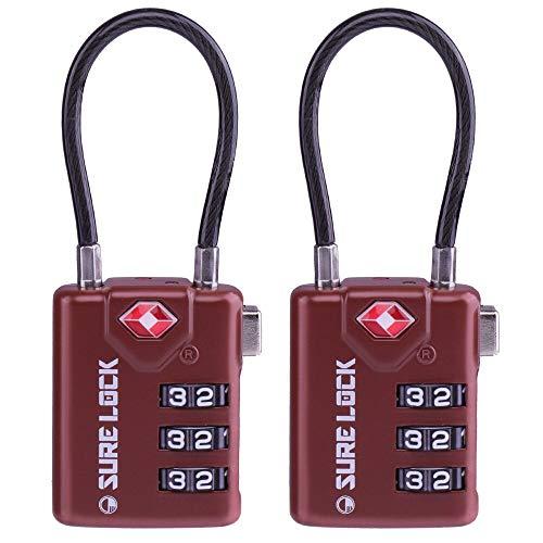 TSA Compatible Travel Luggage Locks, Inspection Indicator, Easy Read Dials – 1, 2 & 4  ...