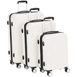 AmazonBasics Geometric Luggage Expandable Suitcase Spinner – 3 Piece Set (20″, 24 ...