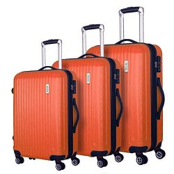 Coomee Luggage 3 Piece set, Expandable Suitcase with TSA Lock, ABS Spinner Hardshell lightweight ...