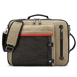 Laptop Messenger Bag Convertible Backpack Multifunction Business Briefcase Shoulder Bag Leisure  ...