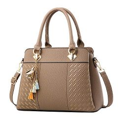 Clearance Sale! ZOMUSAR Fashion Women Leather Splice Handbag Shoulder Bag Crossbody Messenger Ba ...