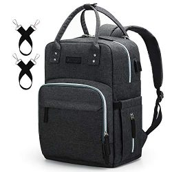 Diaper Bag Backpack Upsimples Multi-Function Maternity Nappy Bags for Mom & Dad, Travel Back ...
